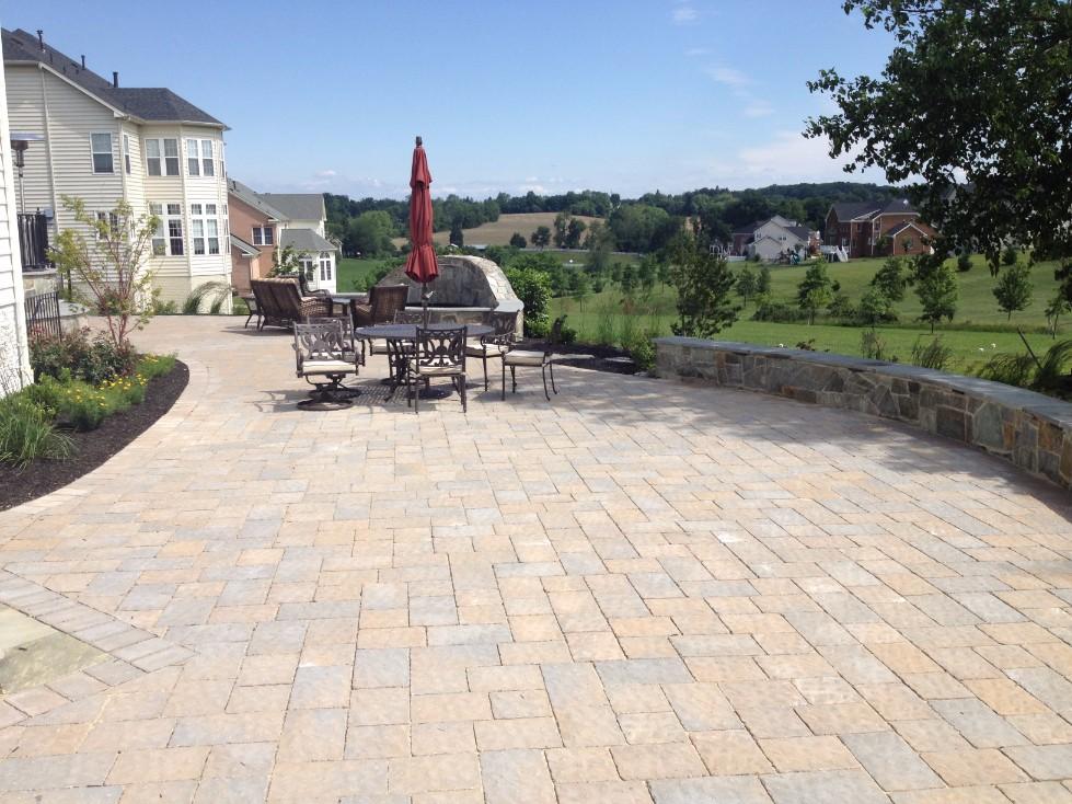Brick Paver Backyard Patio