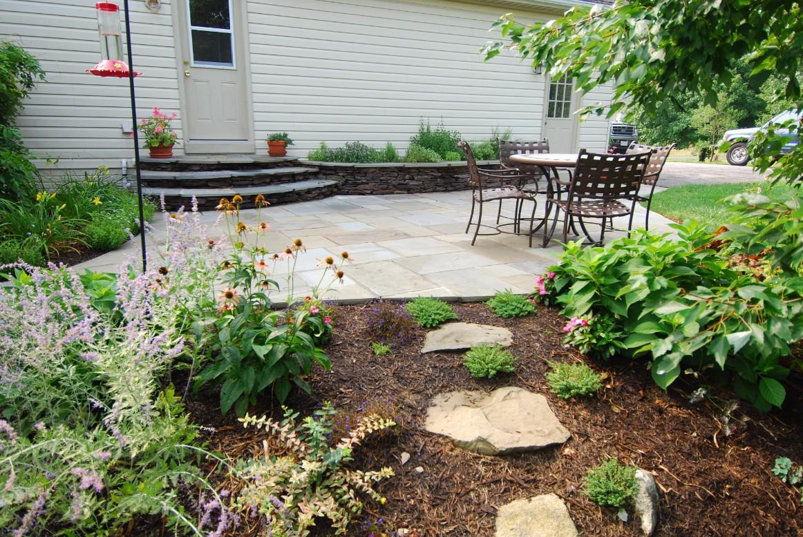 Stone Patio and Garden