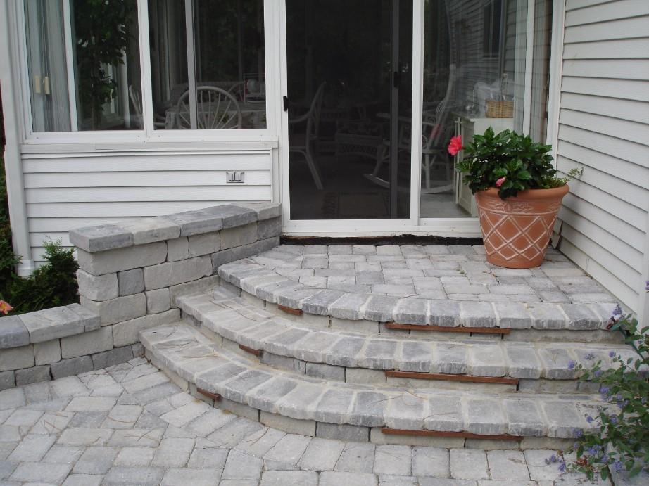 Brick Paver Stairs