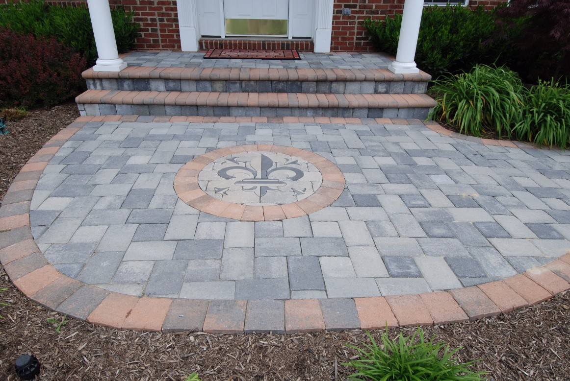 Brick Pavers Front House Walkway and Steps