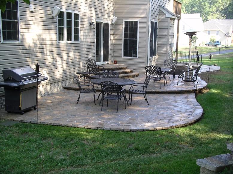 Brick Paver tiered patio