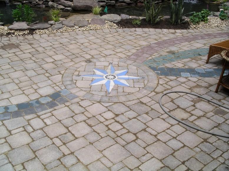 Brick Paver Star Design in Patio