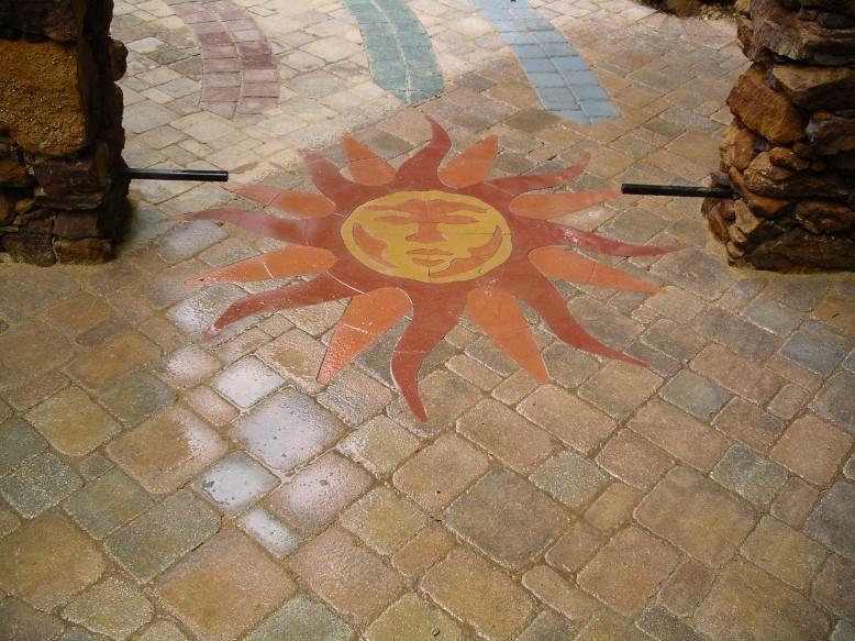Brick Pavers  Custom Design Sun Patio