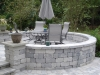 Brick Paver Circular Wall Patio