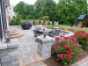 Brick Pavers & Inlays Patio with Garden Surround