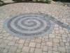 Brick Pavers spiral design patio