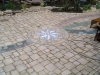 Brick Paver Star Design in Patio