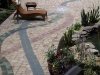 Brick Pavers & Inlays Patio wiht Pond Water Feature