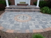 brick inlay patio with symbol