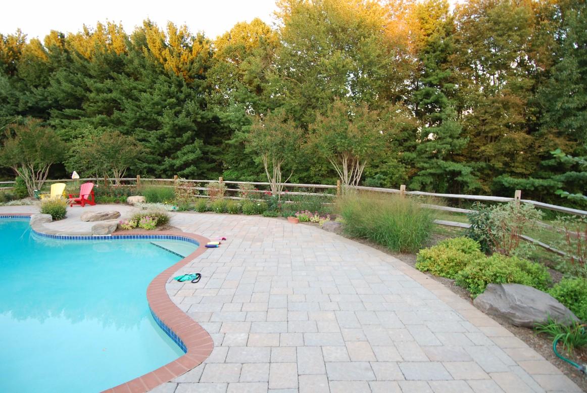 Backyard Landscape Designs & Inground Pool in Fairfax County, VA