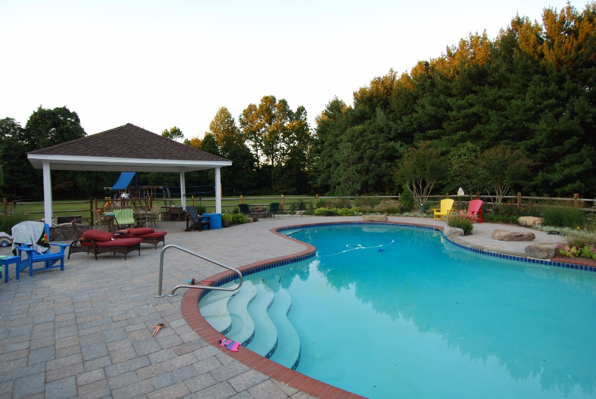 Inground Pool & Backyard Landscaping Design in Baltimore, MD