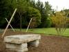 stone bench landscape
