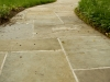 concrete and stone walkway installation
