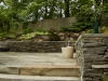 stone stairs, patio and wall landscape