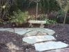 Natural stone bench and path