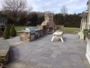 Outdoor Stone Kitchen and Fireplace