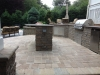 Outdoor Stone Kitchen  wiht Island and Patio