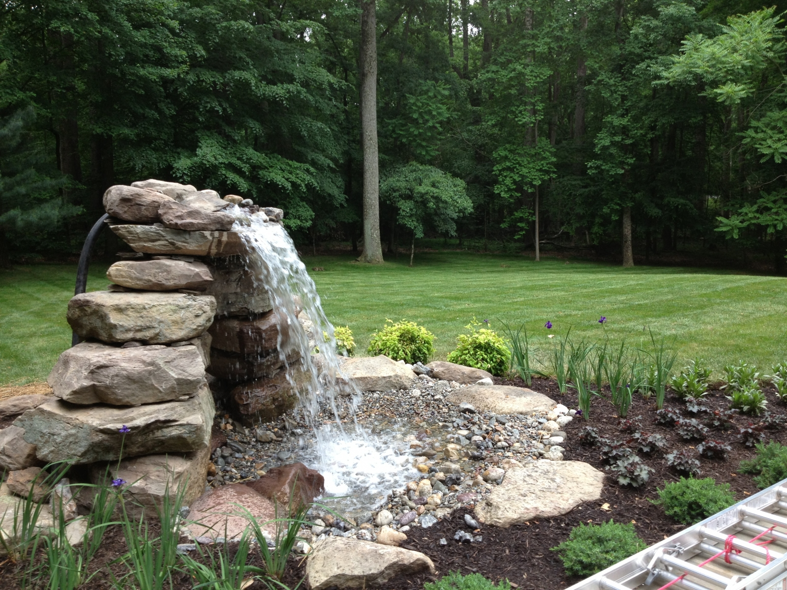 Pond Water Feature Installation In Annapolis Md Vistapro