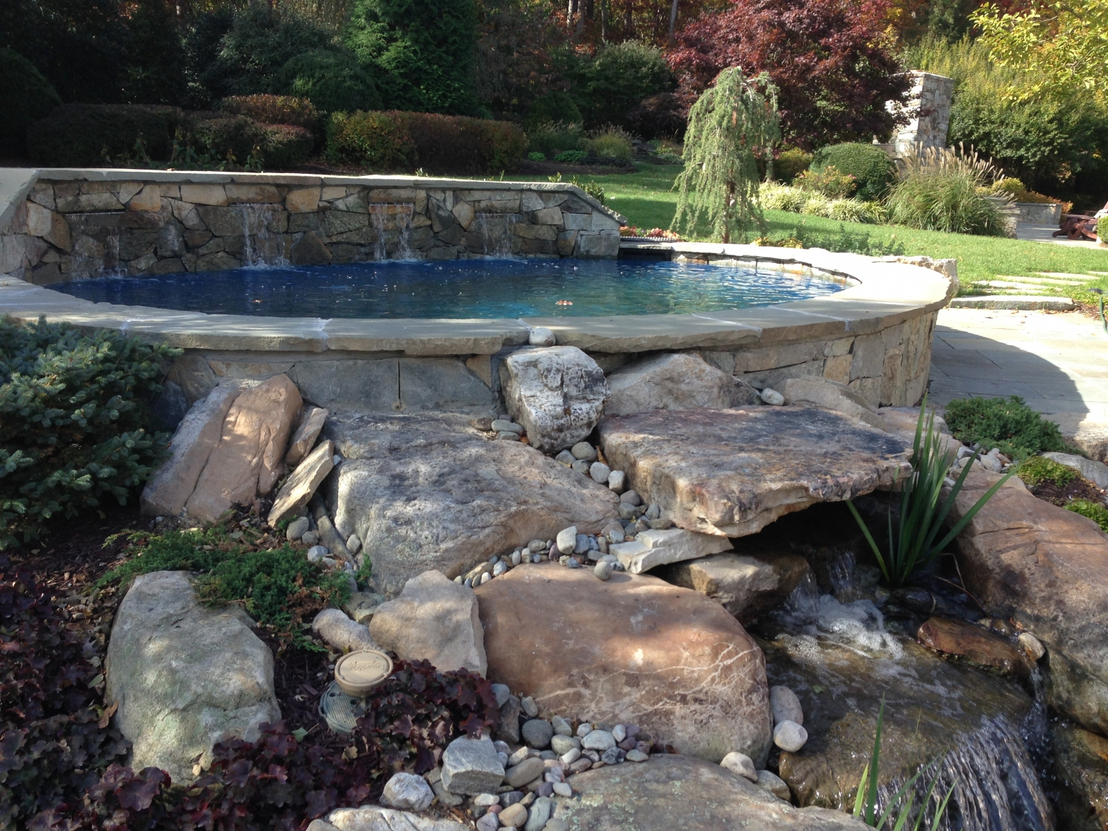 Pond Water Feature Installation In Annapolis Md Vistapro Landscape Design