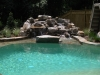 Inground Pool Deck Installation & Designs and Waterfall