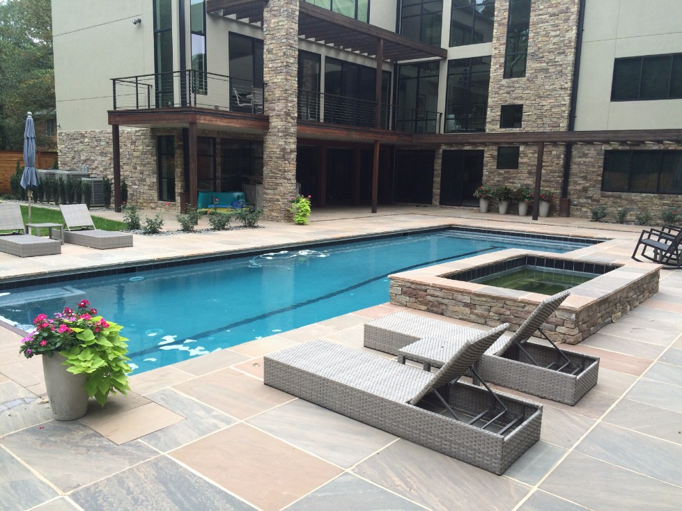 Landscape design pictures for Pool spa show 2015