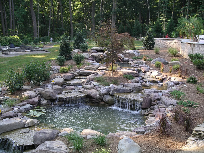 Waterfall Landscape Design Amp Installation In Annapolis Md