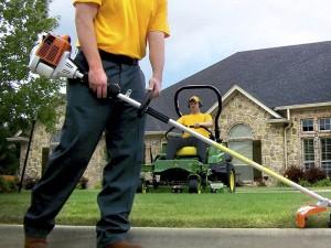 weeding, edging, mowing