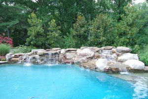 Stone Waterfall Addition to Swimming Pools