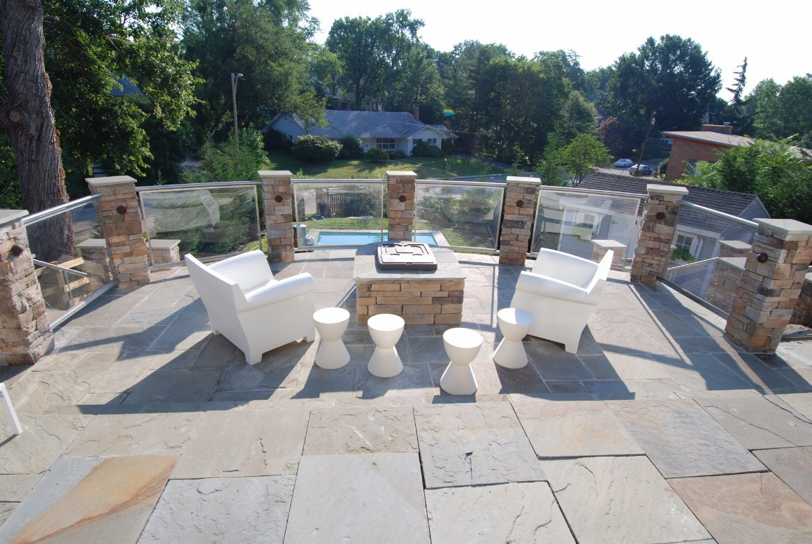 Outdoor Fire Pit Installation in Annapolis, MD