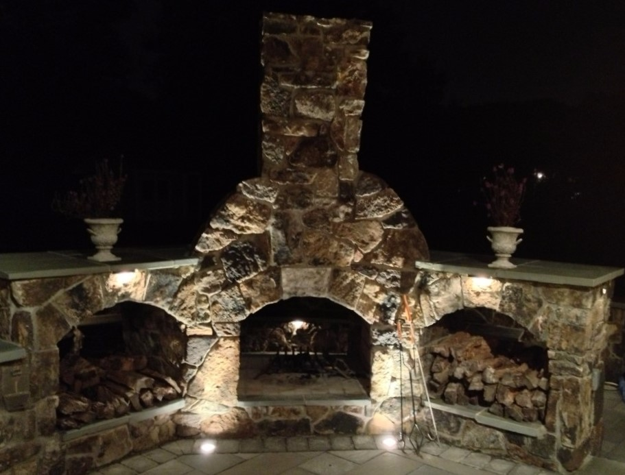 Outdoor Fireplace Installation in Annapolis, MD